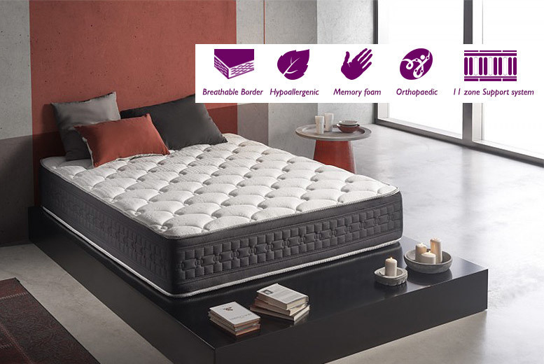 Stockists of £149 instead of £1379.01 (from Simpurr) for a single luxury soothing 11-zone memory foam mattress, £179 for a double and £199 for a king - save up to 89%