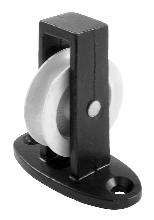 Stockists of 1.5in Single Upright Pulley Black Japanned