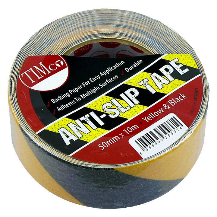 Stockists of 10M Roll of Black and Yellow Grip Tape