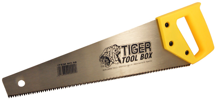 Stockists of 14in Tiger Tool Box Saw