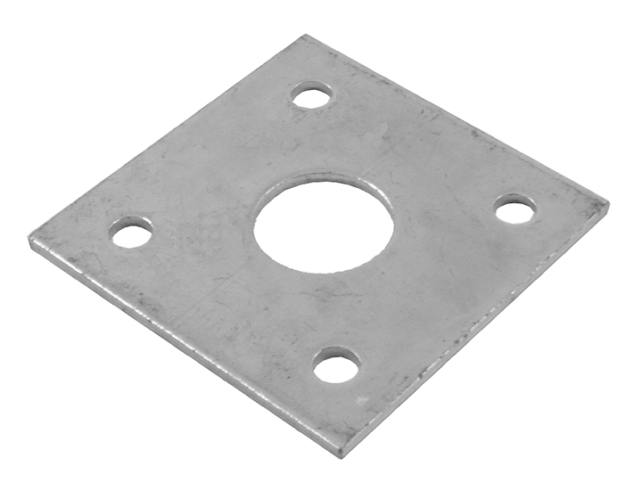 Stockists of 16mm Flat Round Hole Receiver Plate Zinc Plated