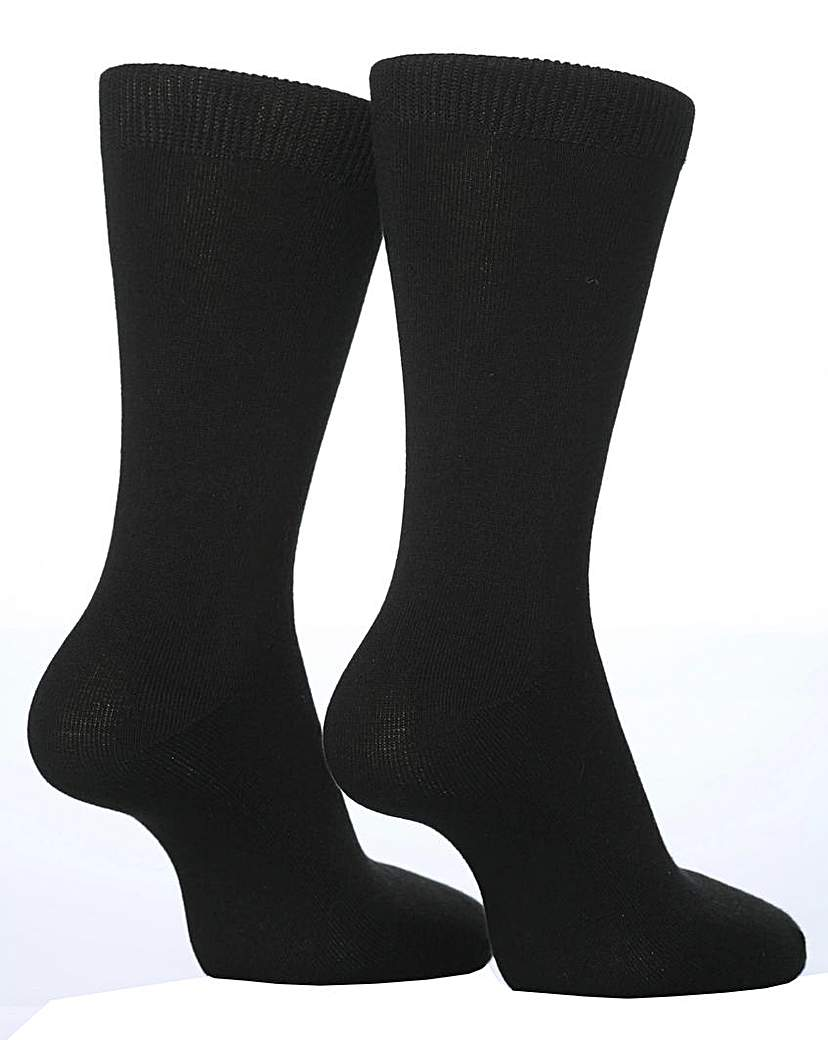 Stockists of 2 Pair Sockshop Plain Bamboo Socks