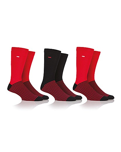 Stockists of 3 Pair Coca Cola Mens Striped Sock