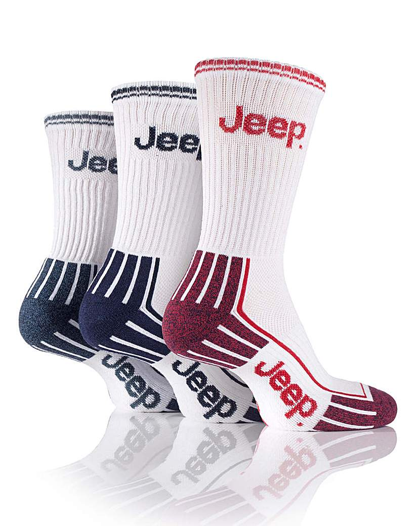 Stockists of 3 Pair Jeep Mens Sports Socks