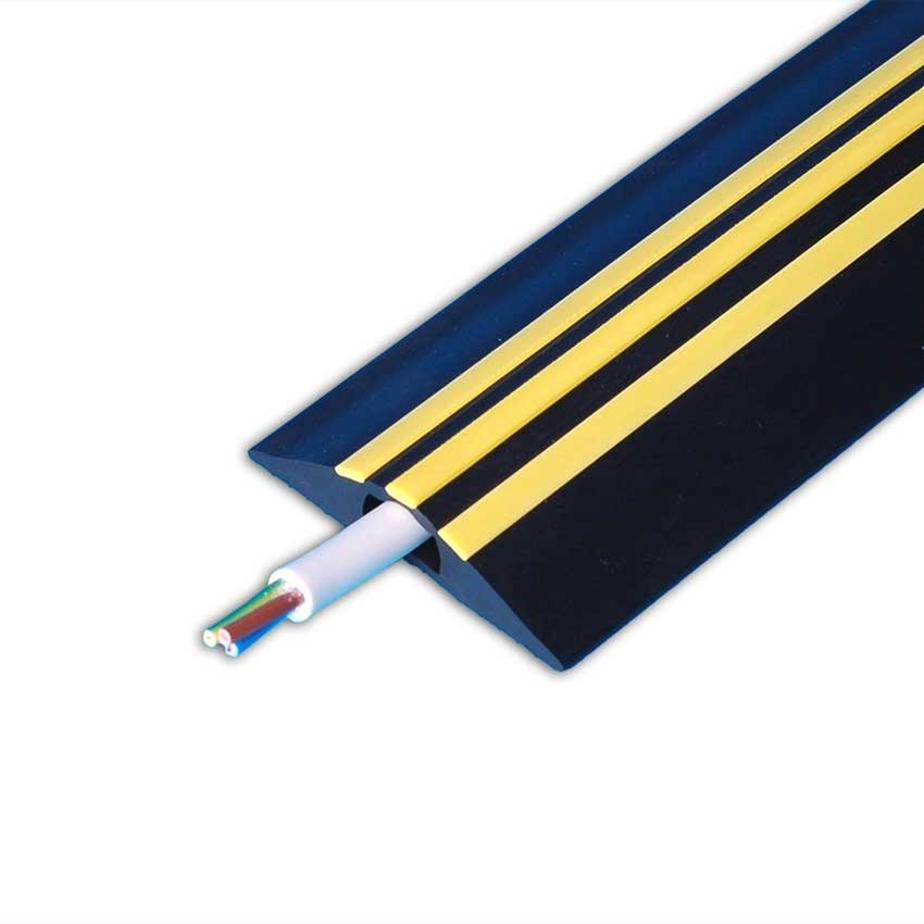 Bargain 9m Hazard Identity Cable Cover Black, Yellow Stripes  1 Hole 30 x 10mm Stockists