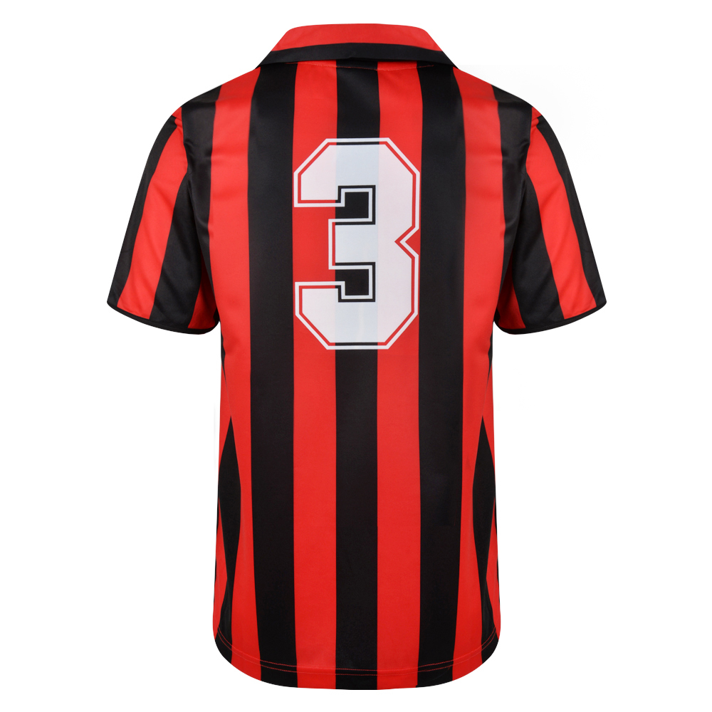 Bargain AC Milan 1988 No3 Retro Football Shirt Stockists