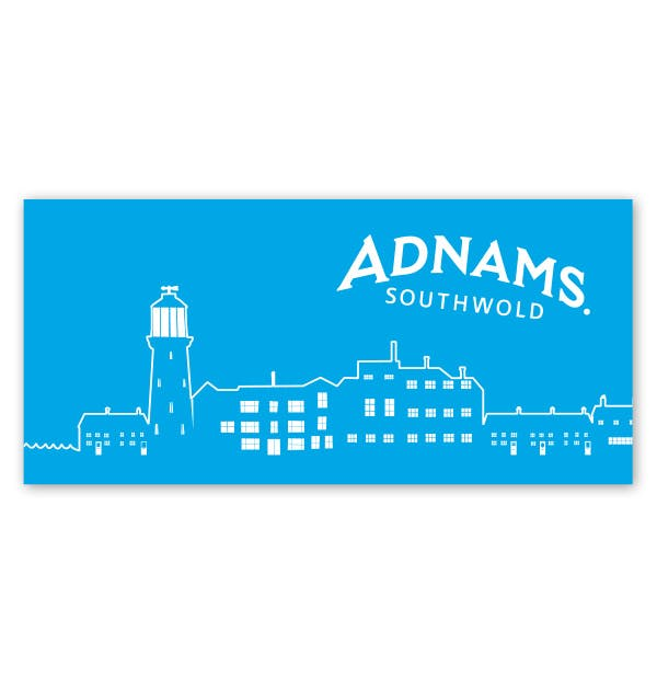 Bargain Adnams Blue Town Scene Beach Towel Stockists