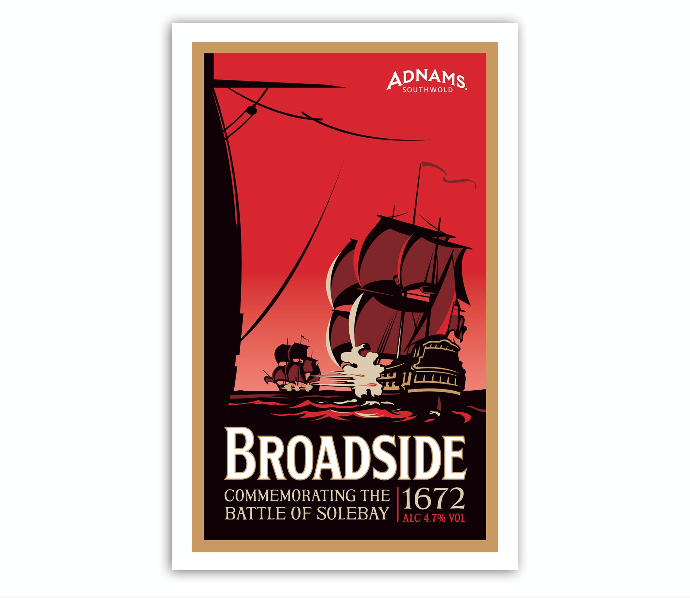 Stockists of Adnams Broadside Tea Towel