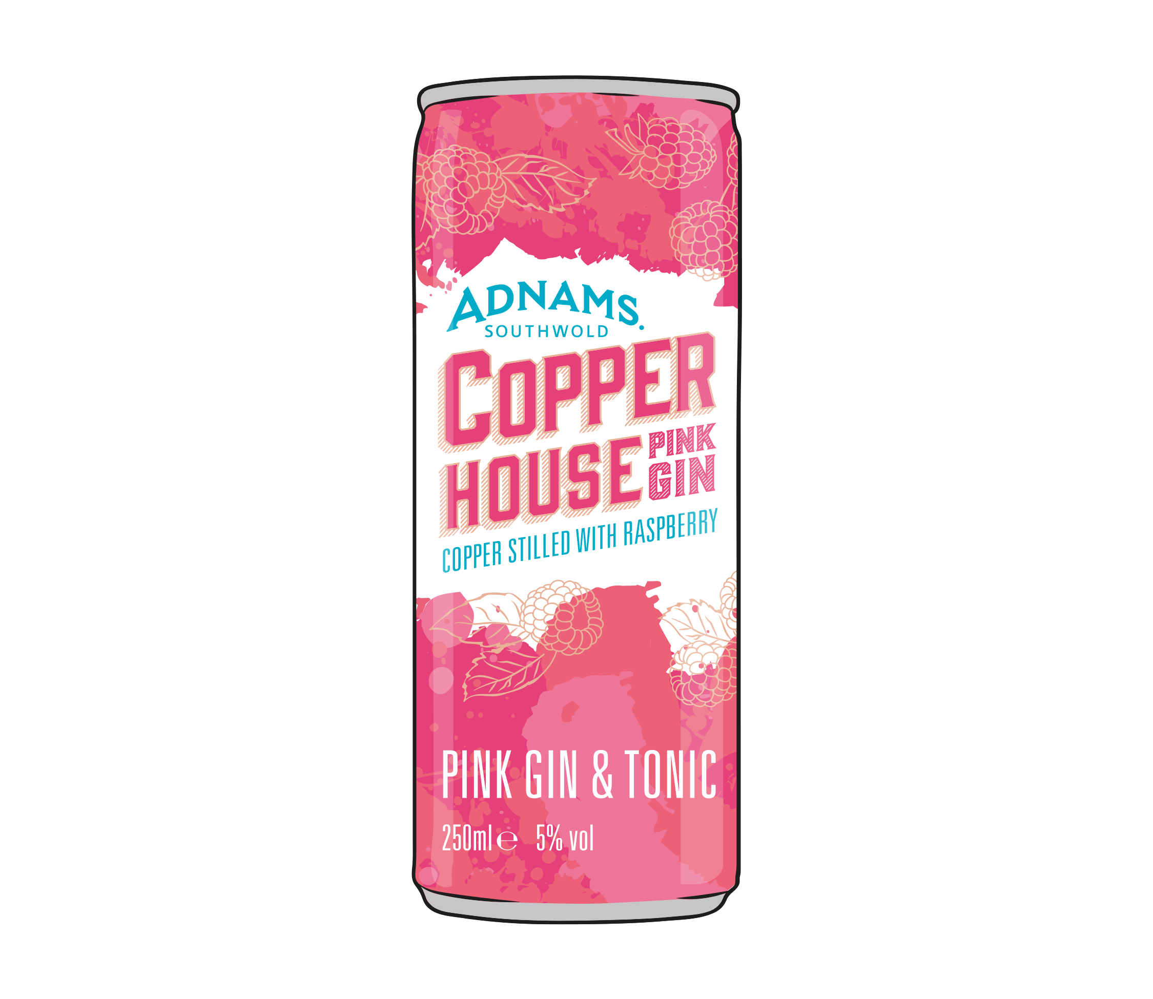 Stockists of Adnams Pink Gin & Tonic Cans
