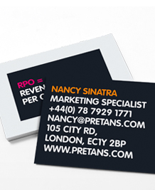 Stockists of Advertising Agencies Business Cards, 50 qty