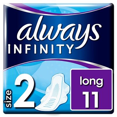 Bargain Always Infinity Long Sanitary Towels With Wings 11x Stockists