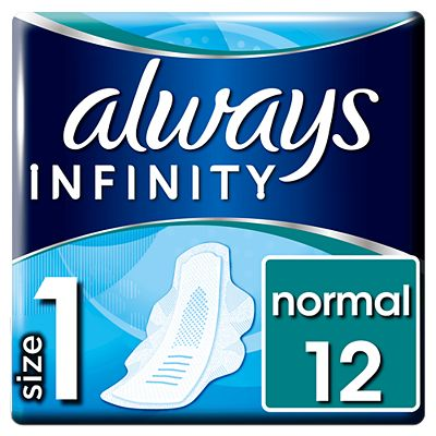 Bargain Always Infinity Normal Sanitary Towels With Wings 12x Stockists