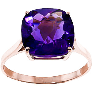 Bargain Amethyst Rococo Ring 3.6ct in 9ct Rose Gold Stockists
