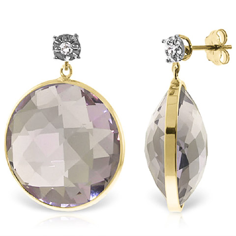 Bargain Amethyst and Diamond Stud Earrings 36.0ctw in 9ct Gold Stockists