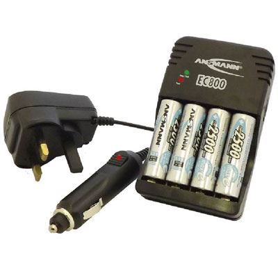 Bargain Ansmann Global Line EC 800 Charger with 4x AA Batteries Stockists