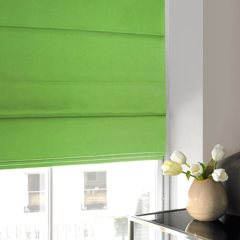 Stockists of Apple Satin Roman Blind