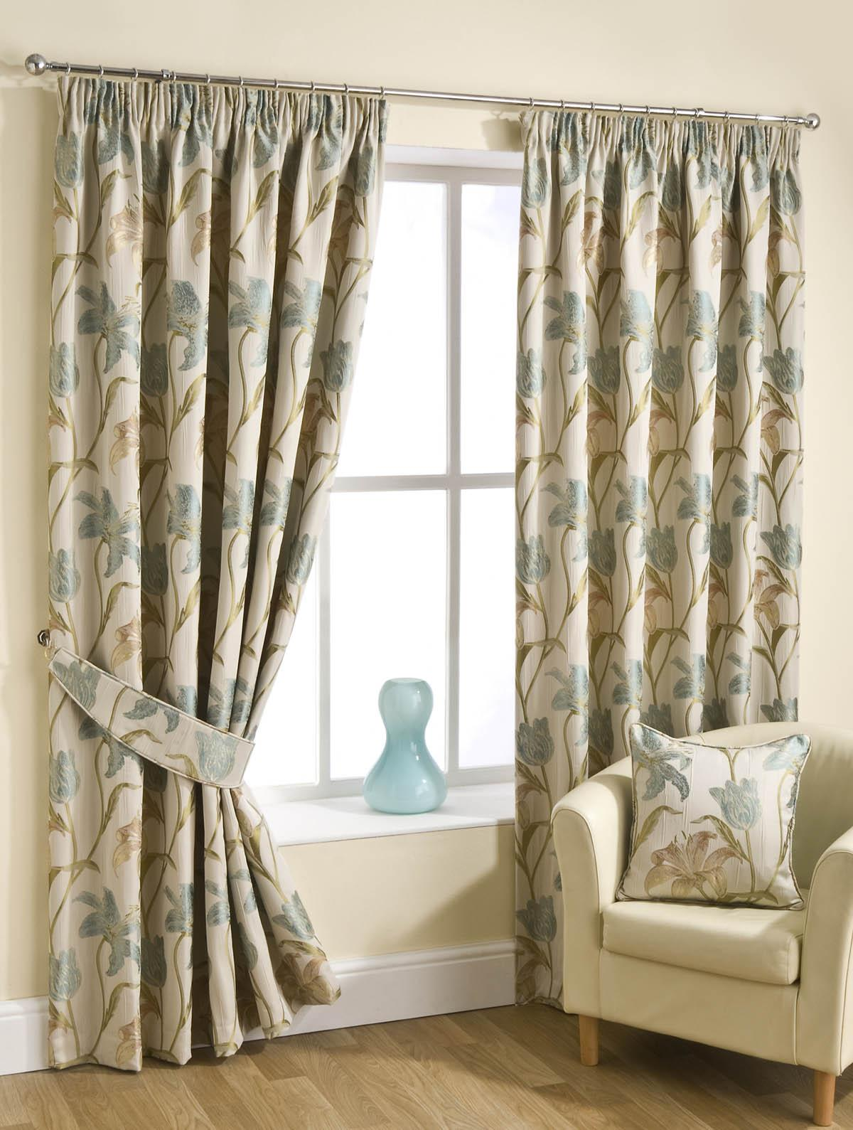 Stockists of Aqua Fragrance Ready Made Lined Curtains