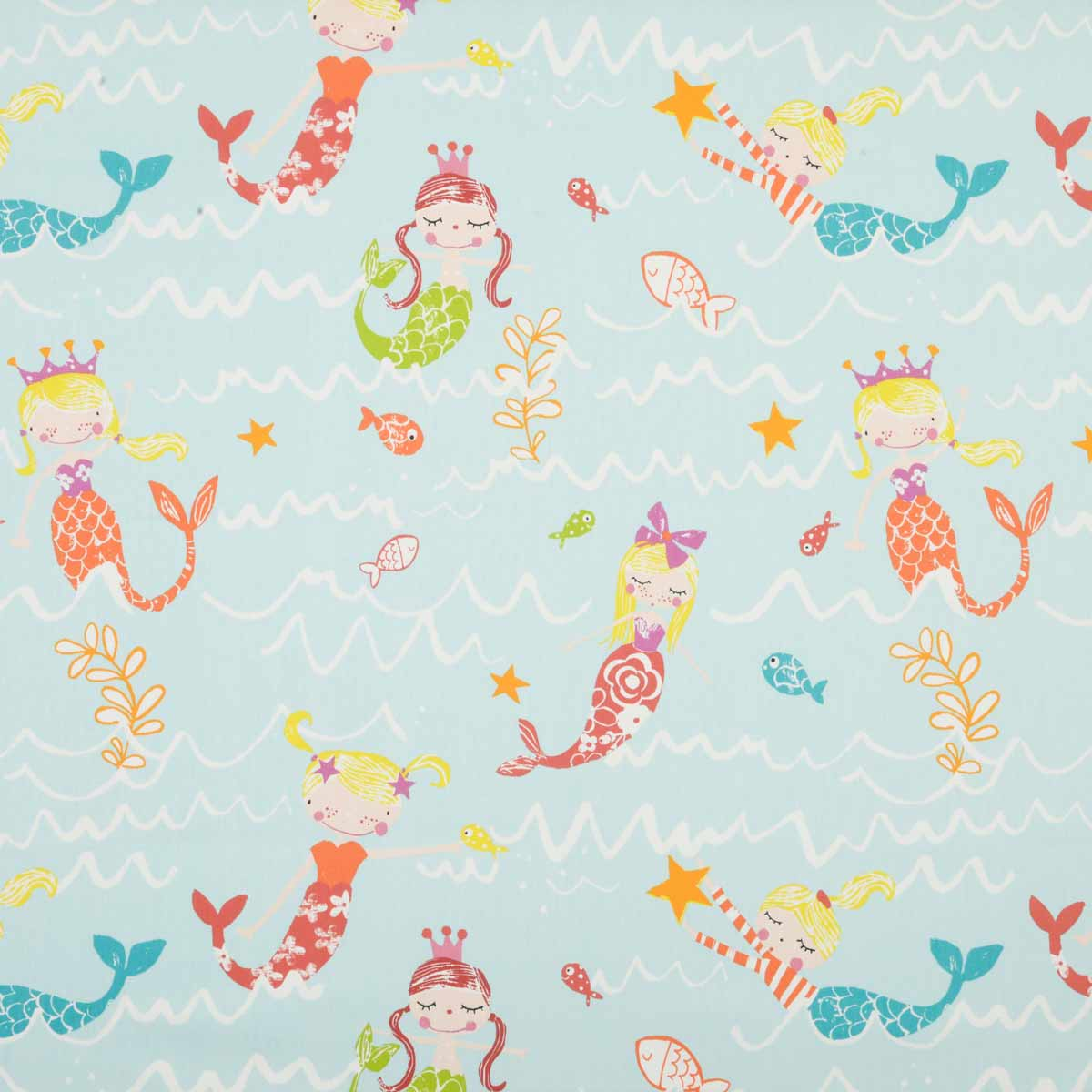 Stockists of Aqua Mermaid Curtain Fabric