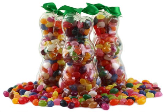 Bargain Assorted Gourmet Jelly Bean Bunny   Upright Stockists