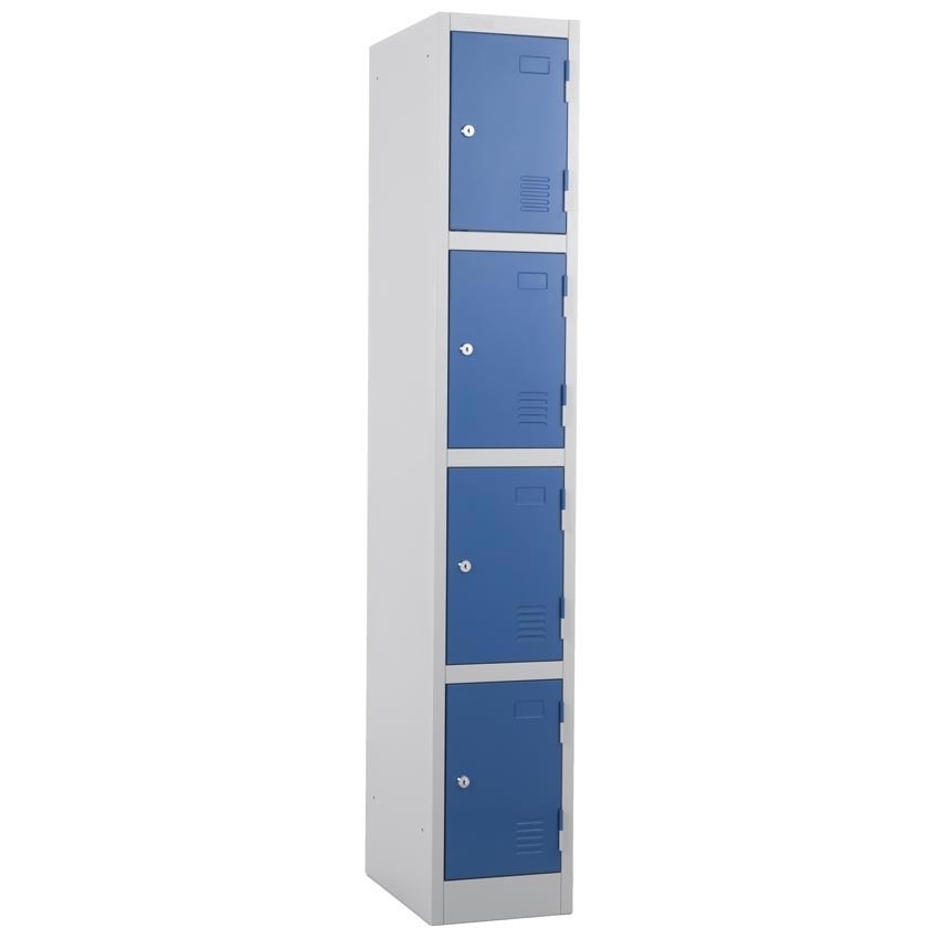 Bargain Atlas 4 door Locker   Blue Door with Key Lock 1800 x 300 x 450 Stockists