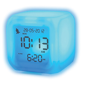 Bargain Aurora Ice Colour Changing Alarm Clock Stockists