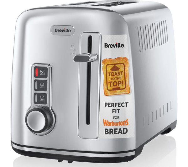 Bargain BREVILLE The Perfect Fit for Warburtons VTT570 2-Slice Toaster - Stainless Steel Stockists