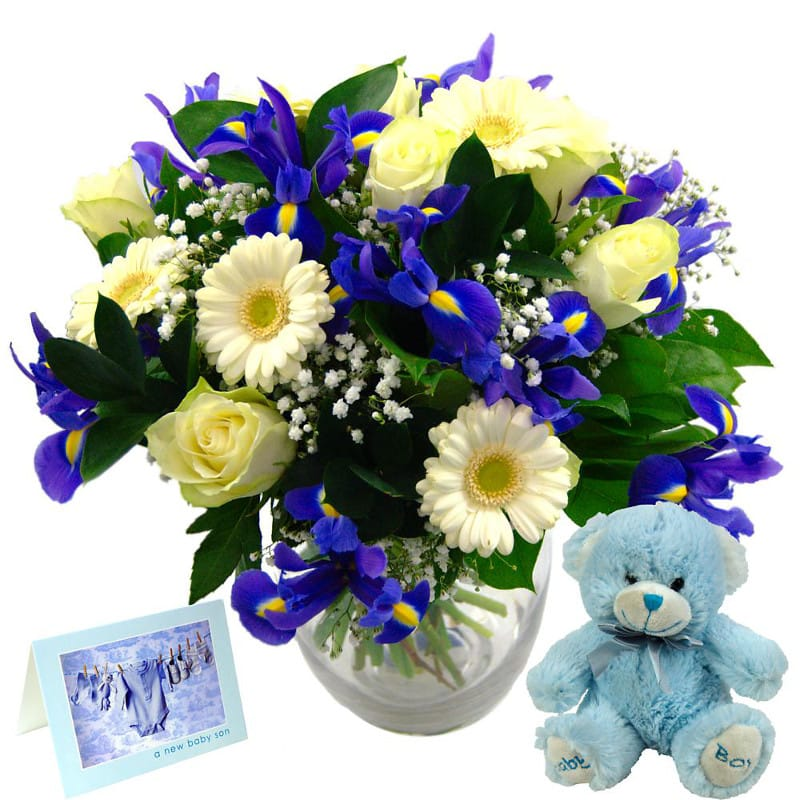 Stockists of Baby Boy Flower Gift Set