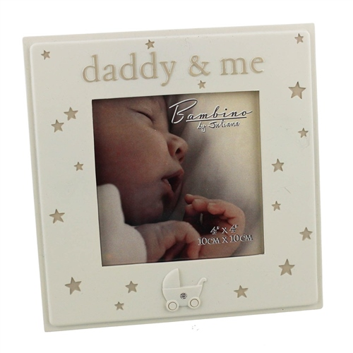 "Bargain Bambino Resin Photo Frame 4"" x 4"" ""Daddy & Me"" Stockists"