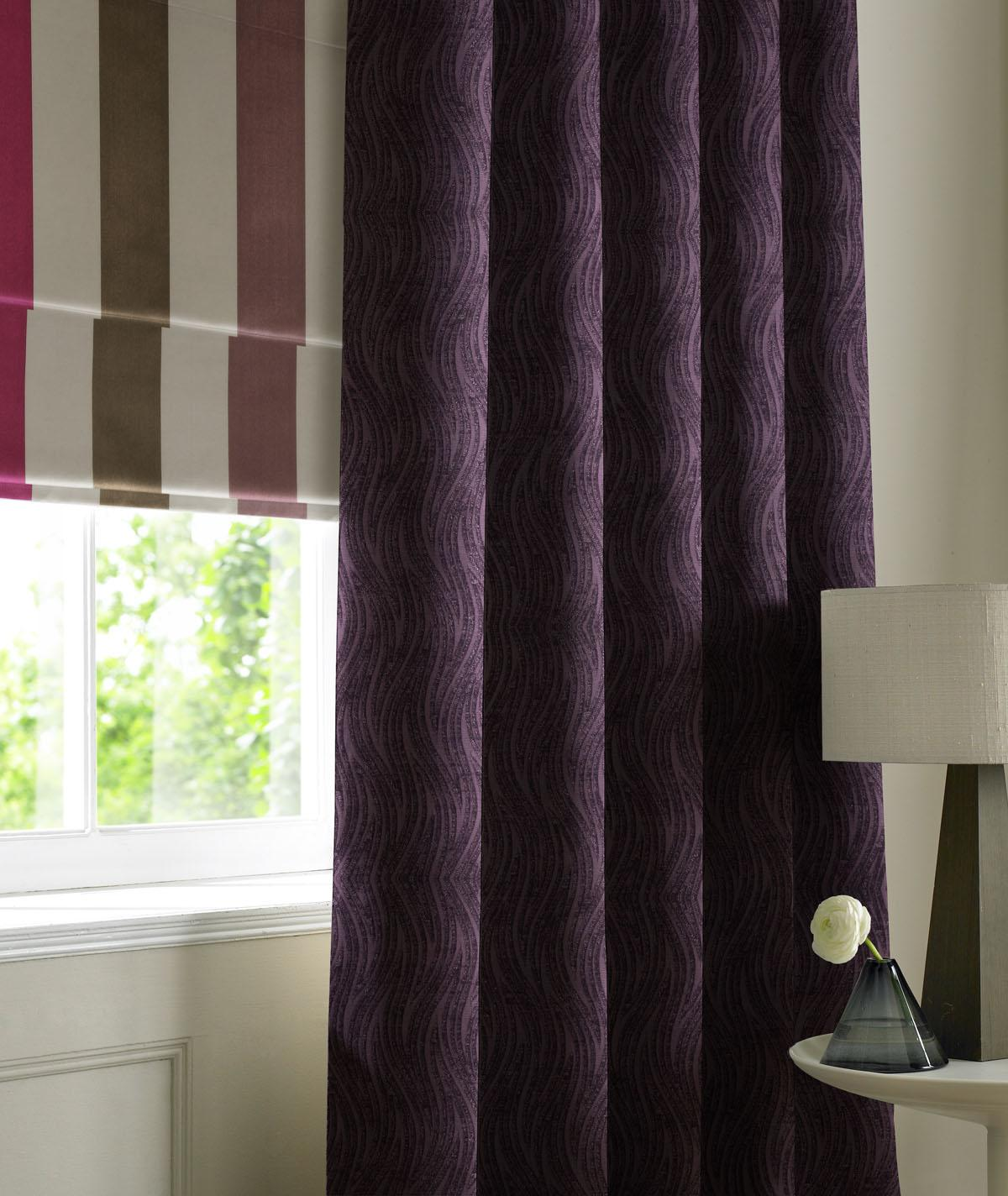 Stockists of Berry Wave Chenille Made to Measure Curtains