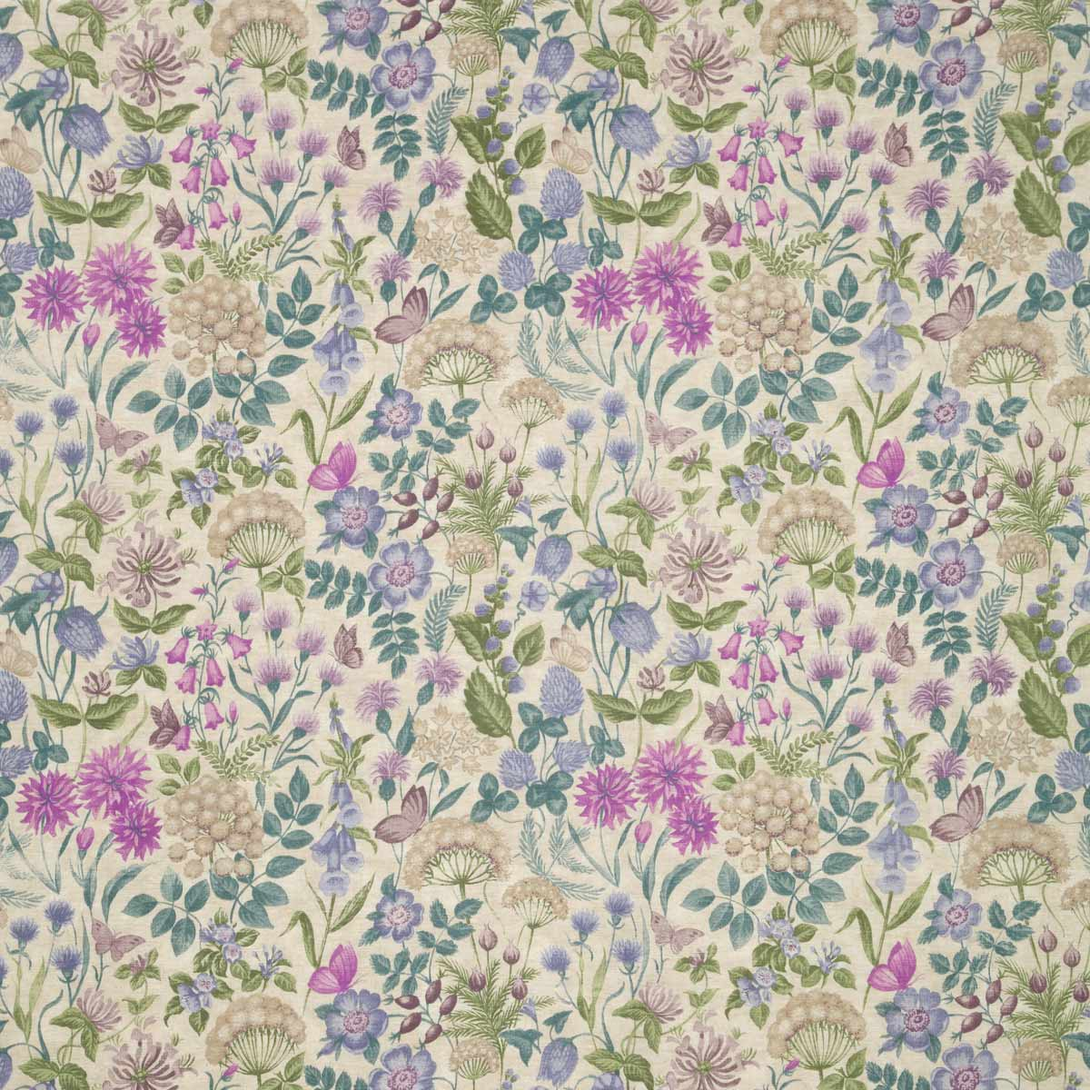 Bargain Bilberry Field Flowers Curtain Fabric Stockists