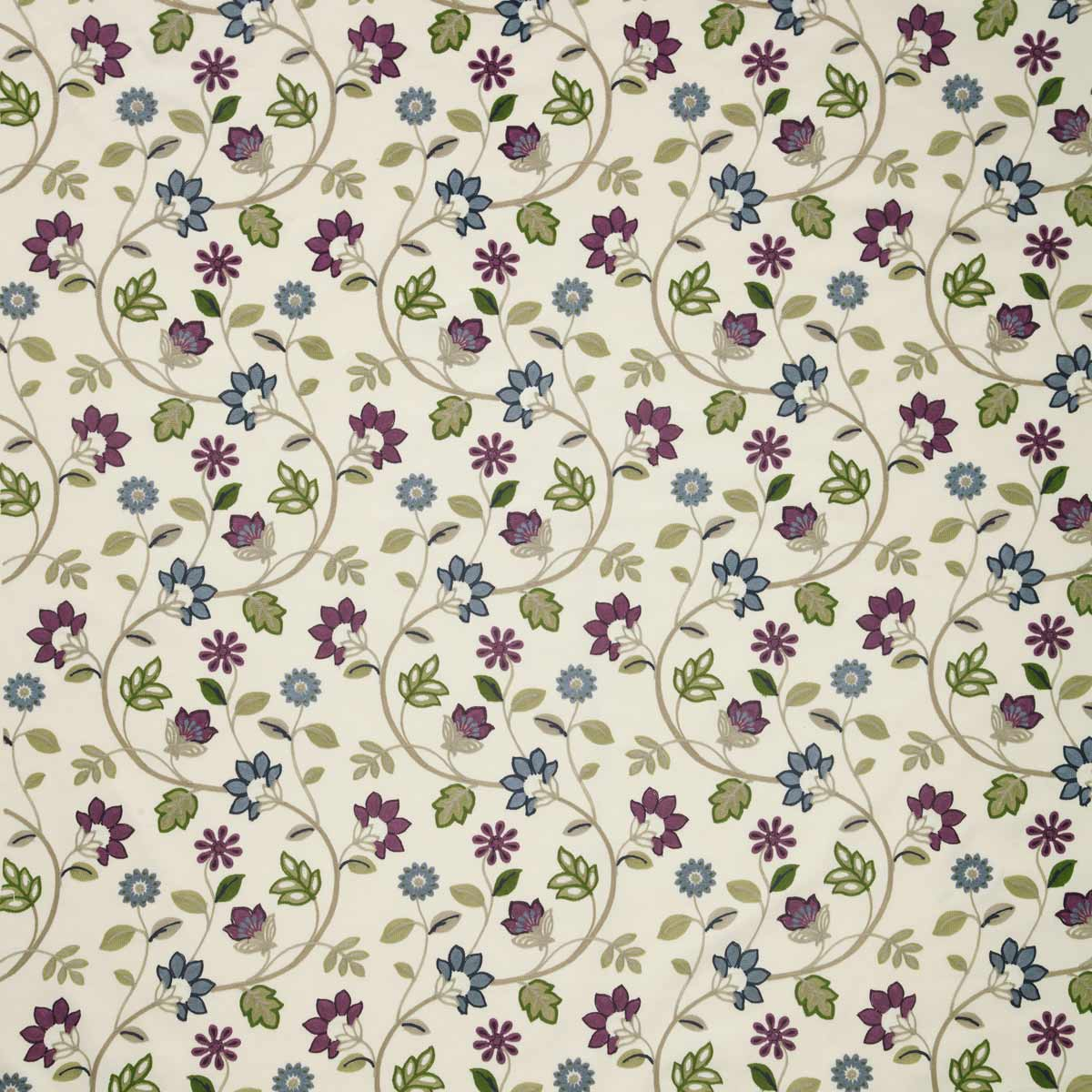 Stockists of Bilberry Kelty Crewel Curtain Fabric