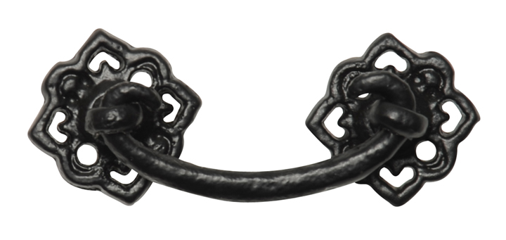 Bargain Black Antique Ironwork Drawer Handle 33x33mm 1009 Stockists