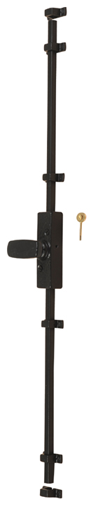 Stockists of Black Antique Ironwork Espagnolette Door Bolt (Cassette) 5135