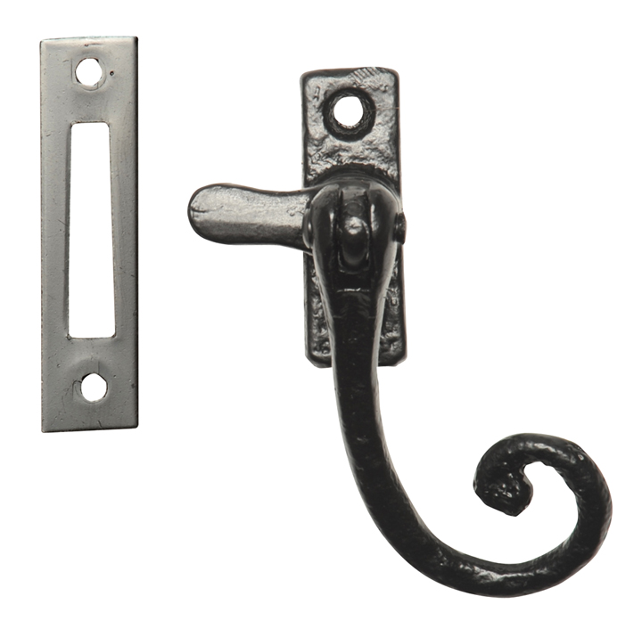 Bargain Black Antique Ironwork Window Handle Fastener Mortice 1179MP Stockists