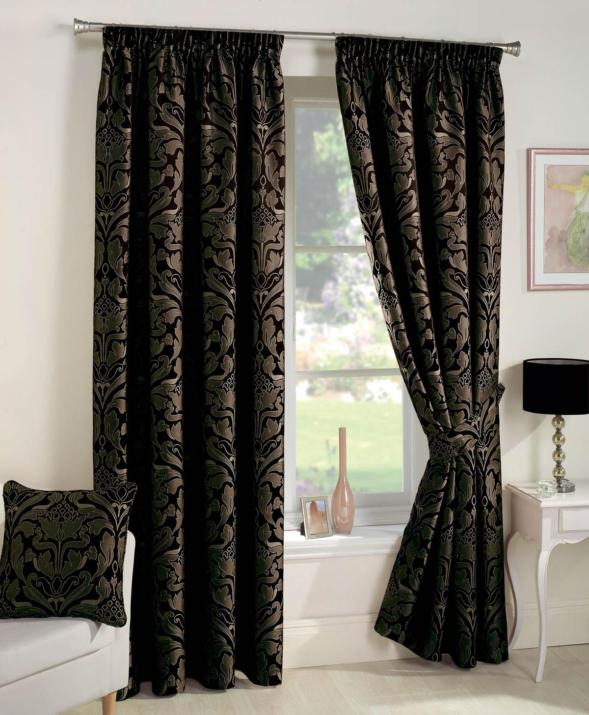 Stockists of Black Crompton Ready Made Lined Curtains