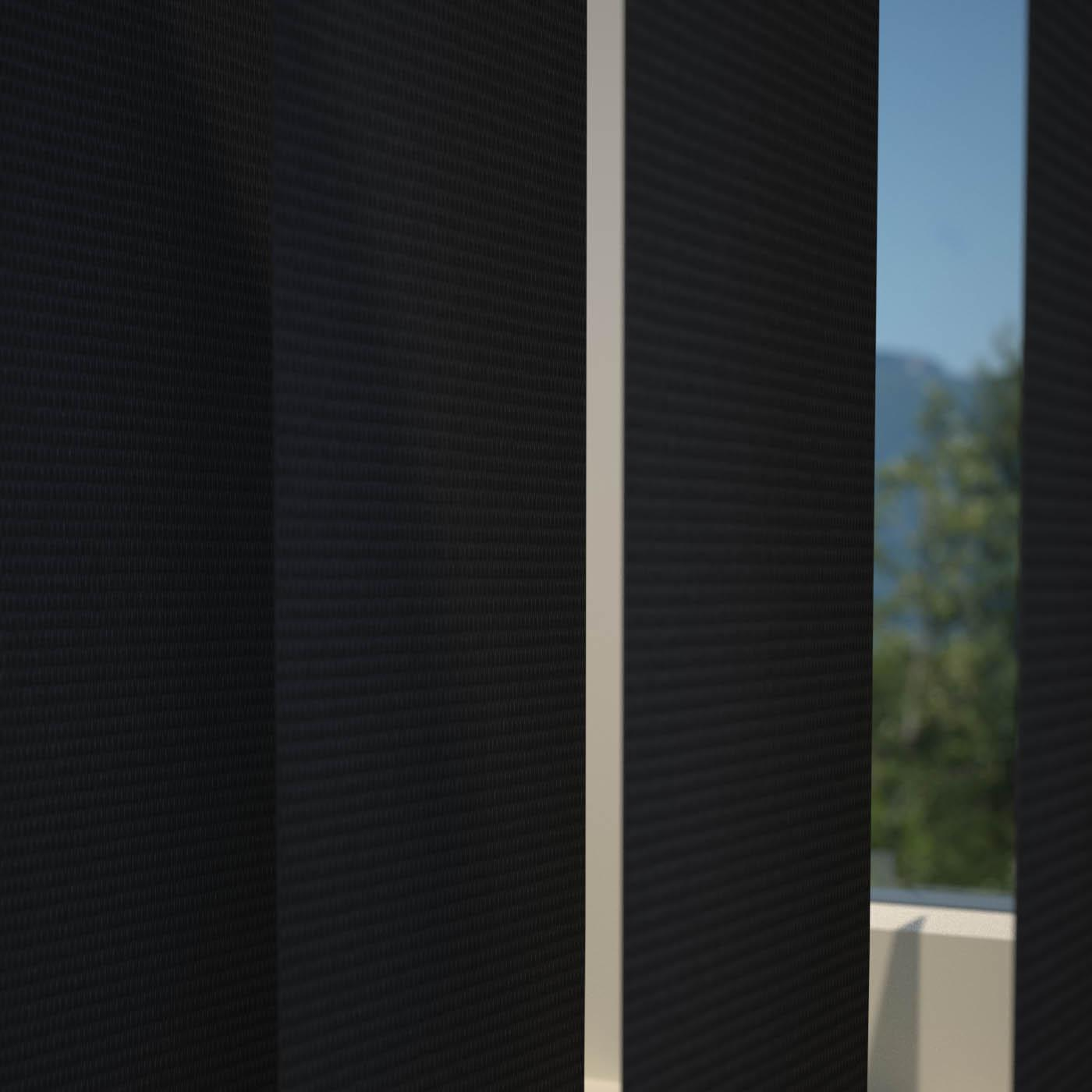 Bargain Black Plain PVC Vertical Blind Stockists