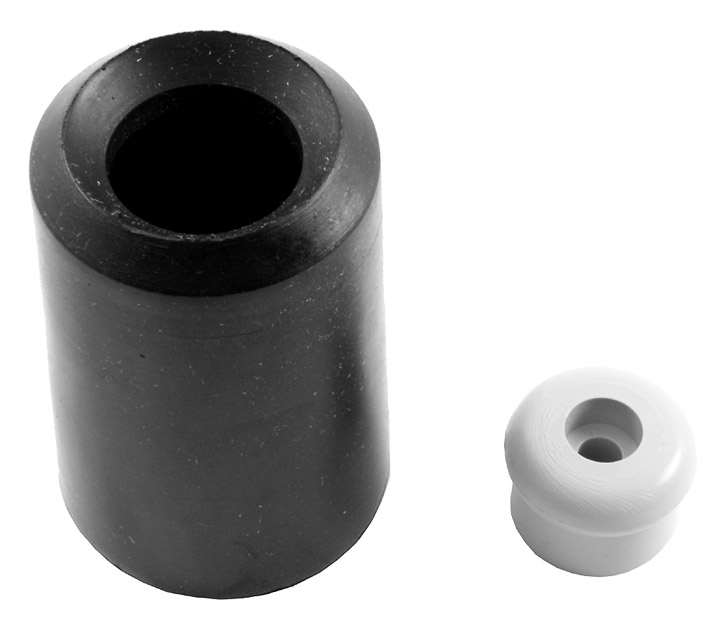 Stockists of Black Rubber Dual Door Buffer and Door Holder