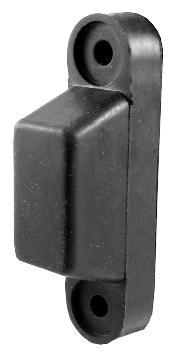 Stockists of Black Rubber Shaped Door Stop or Buffer 102x24mm