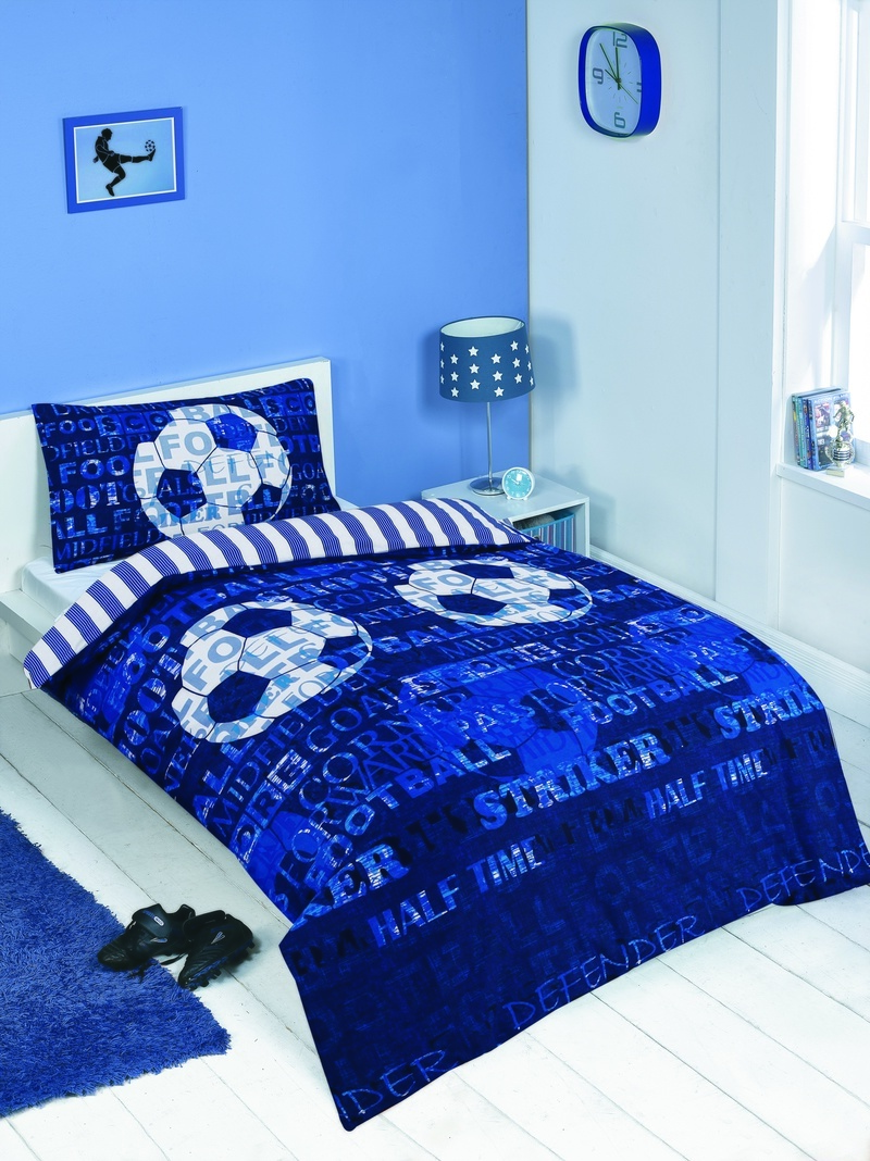 Bargain Blue Football Single Bedding Set Stockists