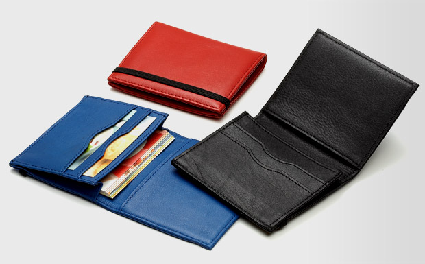 Stockists of Blue Leather Business Card Holder