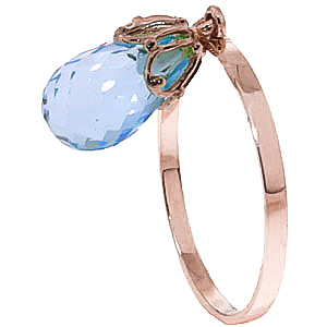 Bargain Blue Topaz Crown Briolette Ring 3.0ct in 9ct Rose Gold Stockists