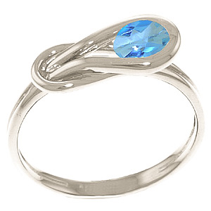 Bargain Blue Topaz San Francisco Ring 0.65ct in 9ct White Gold Stockists