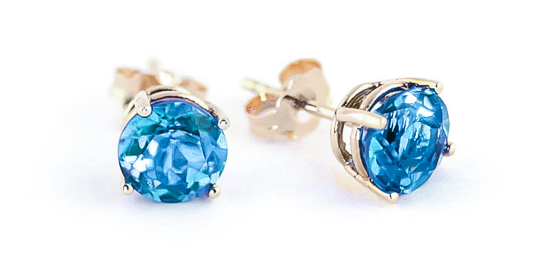 Bargain Blue Topaz Stud Earrings 3.1ctw in 9ct Gold Stockists