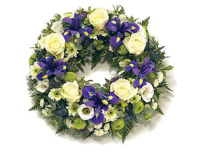 Stockists of Blue and White Wreath