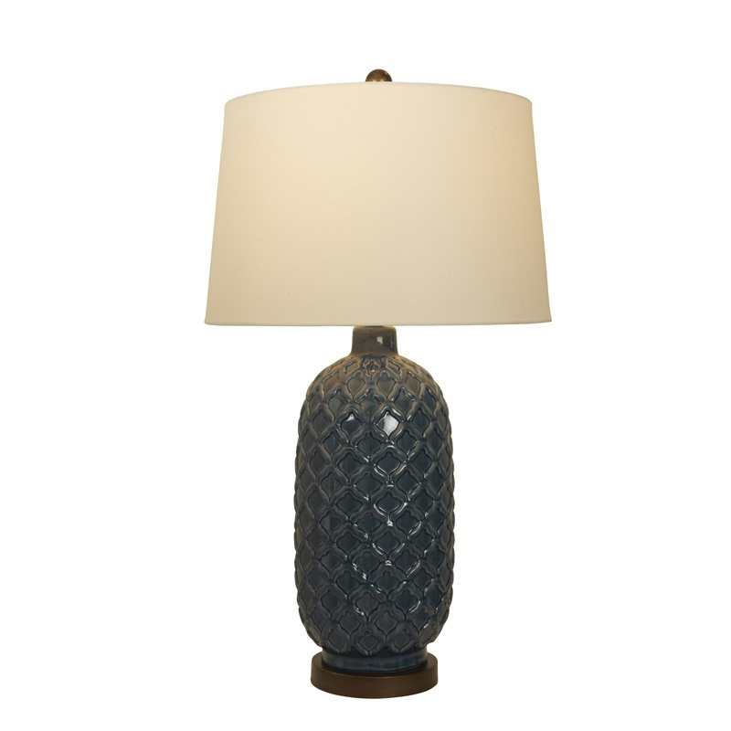 Stockists of Blue/Bronze Amalfi Table Lamp