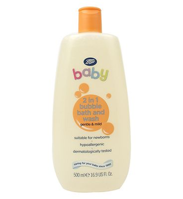 Bargain Boots Baby 2in1 bubble and bath wash 500ml Stockists