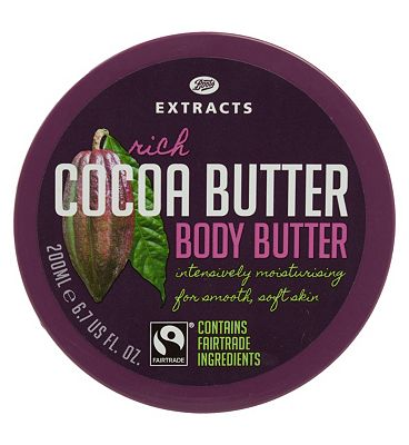Bargain Boots Extracts [Cocoa Butter Body Butter] 200ml Containing Fairtrade ingredients Stockists