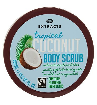 Bargain Boots Extracts [Coconut Body Scrub] 400ml Containing Fairtrade ingredients Stockists