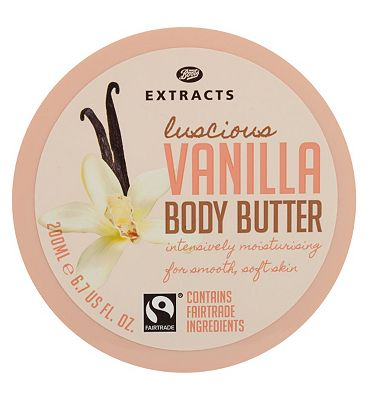 Bargain Boots Extracts [Vanilla Body Butter] 200ml Containing Fairtrade ingredients Stockists