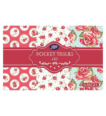 Bargain Boots Floral 6pack 4ply pocket tissues Stockists